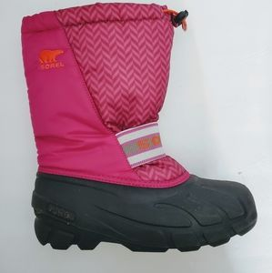 Sorel Pink Insulated Winter Snow Boots  size 5